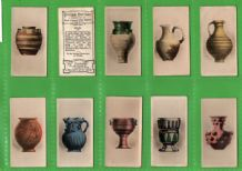 Collectible Cigarette cards Antique Pottery ,China Greece Italy